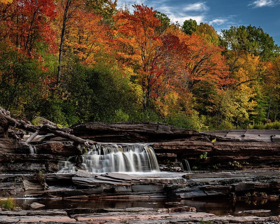 Autumn Color at Bonanza Falls by William Christiansen