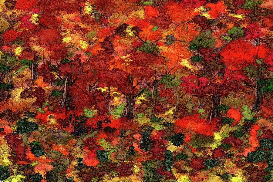 Autumn Color Saturation Digital Art