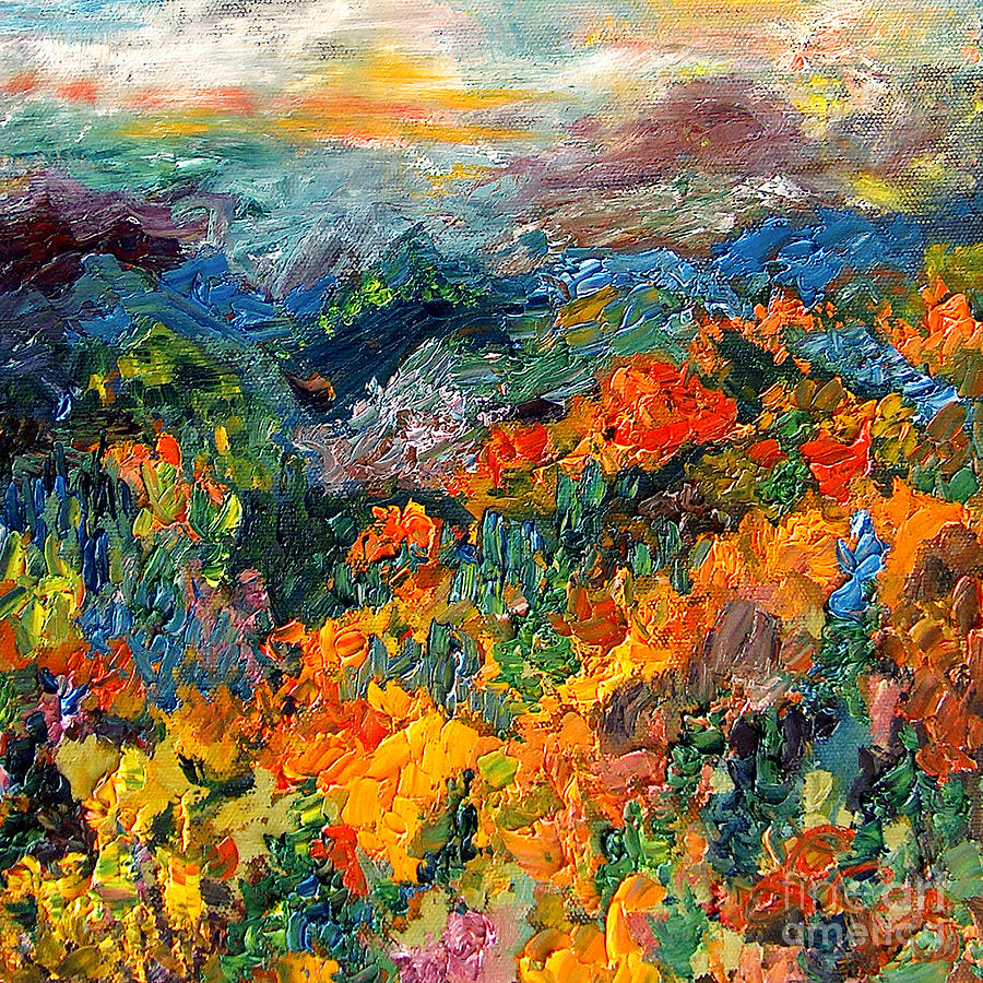 Autumn Colors Georgia Mountains Painting by Ginette Callaway