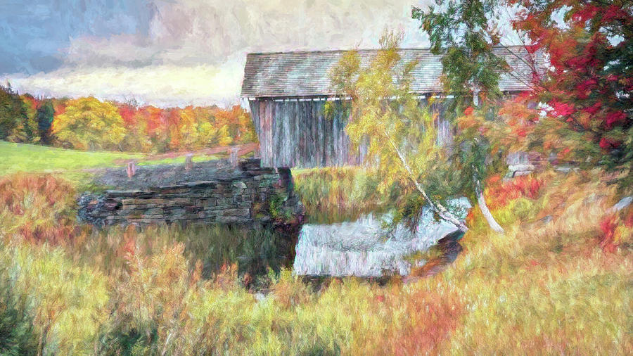 Autumn Covered Bridge by Jeff Folger