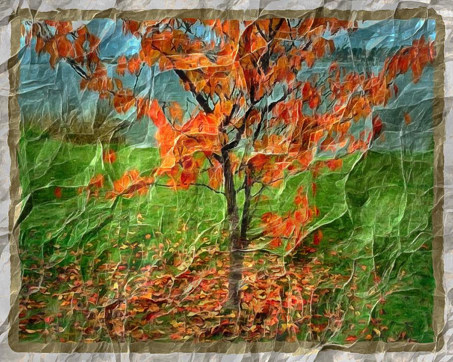Autumn Crinkle Digital Art