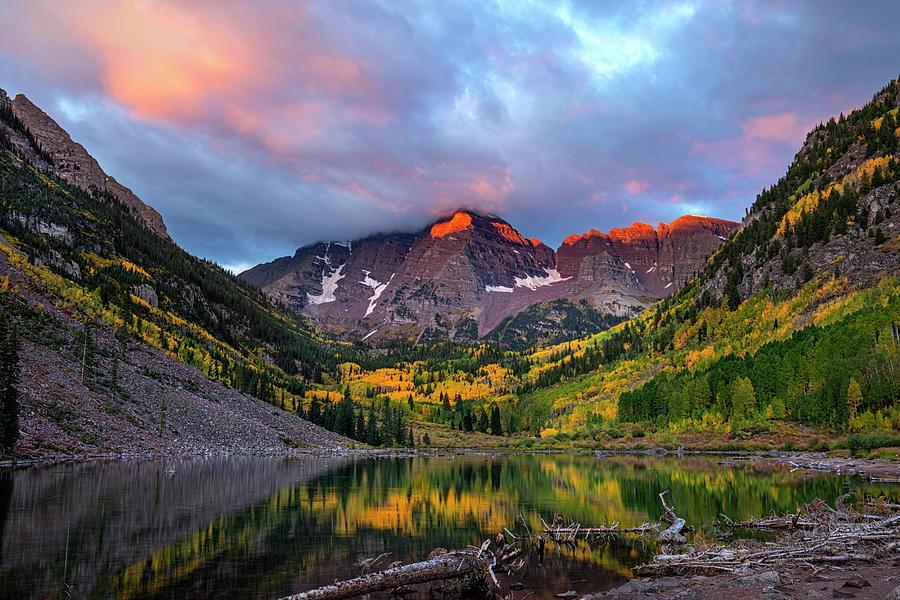 Autumn Daybreak At The Bells  by Harriet Feagin