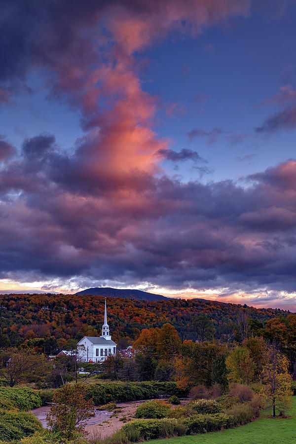 Autumn Dusk at Stowe, Vermont by Rick Berk