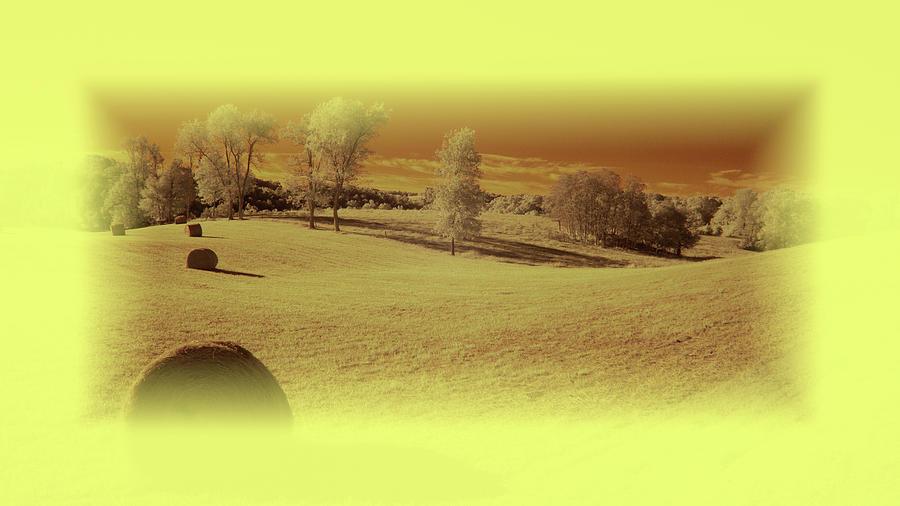 Hay Bales Photograph - Autumn Farmland by Jim Cook