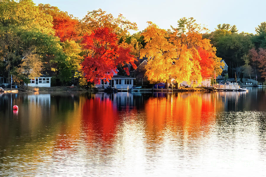 Autumn Glory on Heart Pond by Anita Pollak