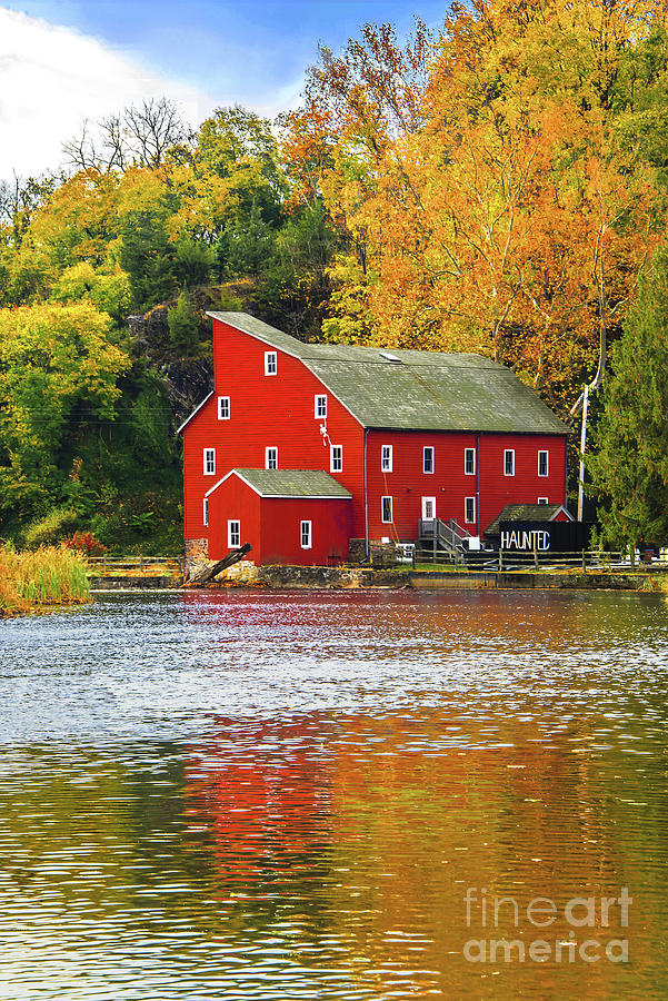 Autumn Gold at the Red Mill  by Regina Geoghan