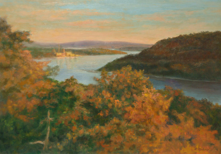 Landscape Painting - Autumn Hudson Highlands by Phyllis Tarlow