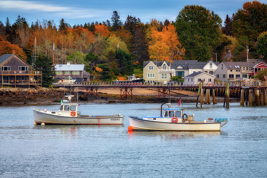 Autumn in Bernard Harbor by Rick Berk