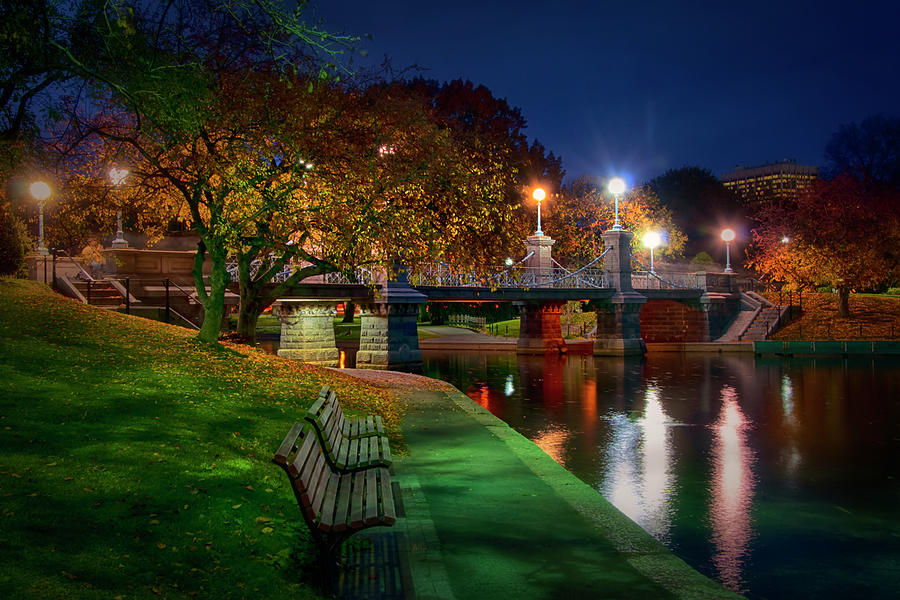 Autumn in Boston - Boston Public Garden by Joann Vitali