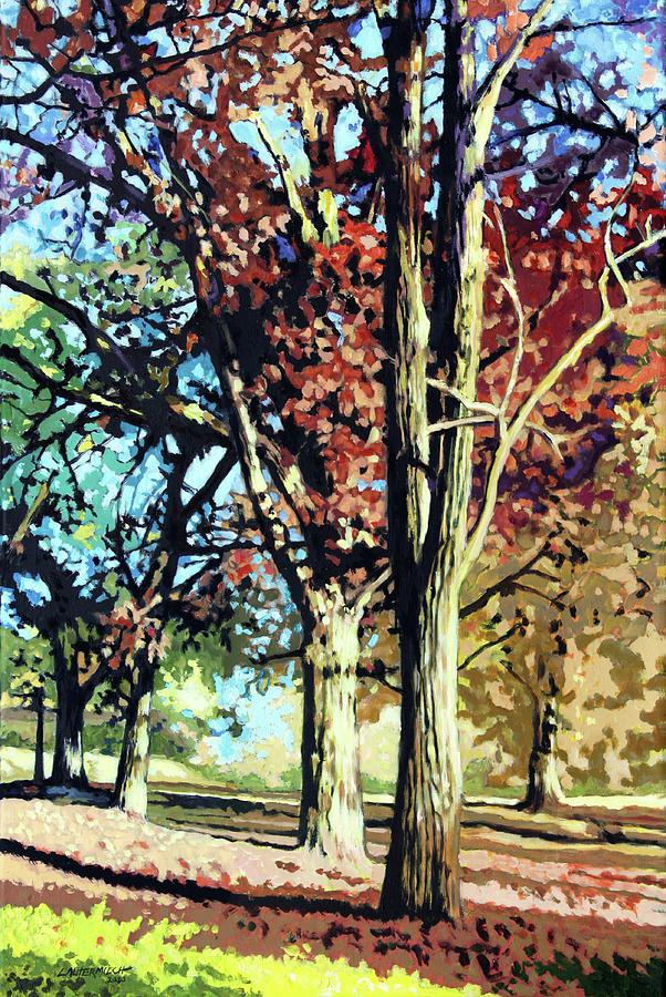 Autumn Painting - Autumn In Bridgeton Park by John Lautermilch
