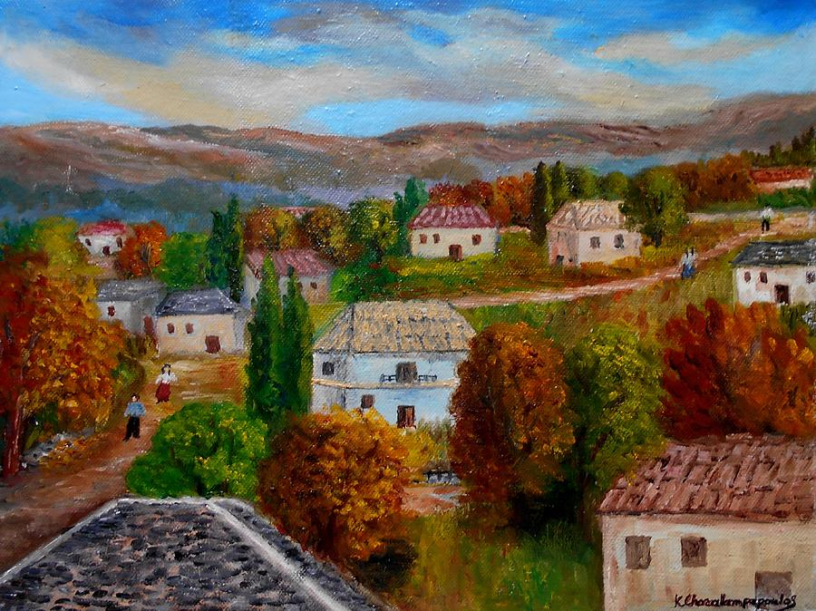 Autumn In Greece Painting