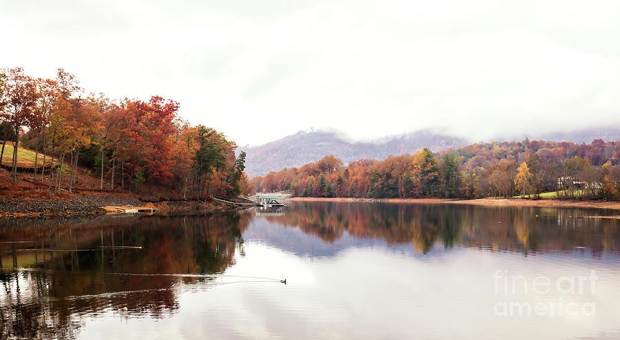 Autumn In North Gerogia Mountain Lake by Felix Lai