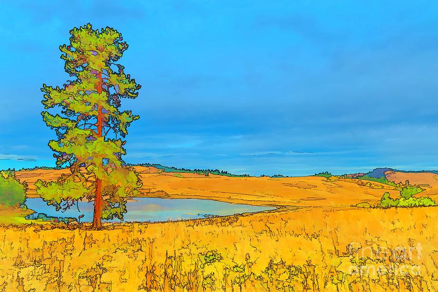 Autumn In The Meadow Digital Art