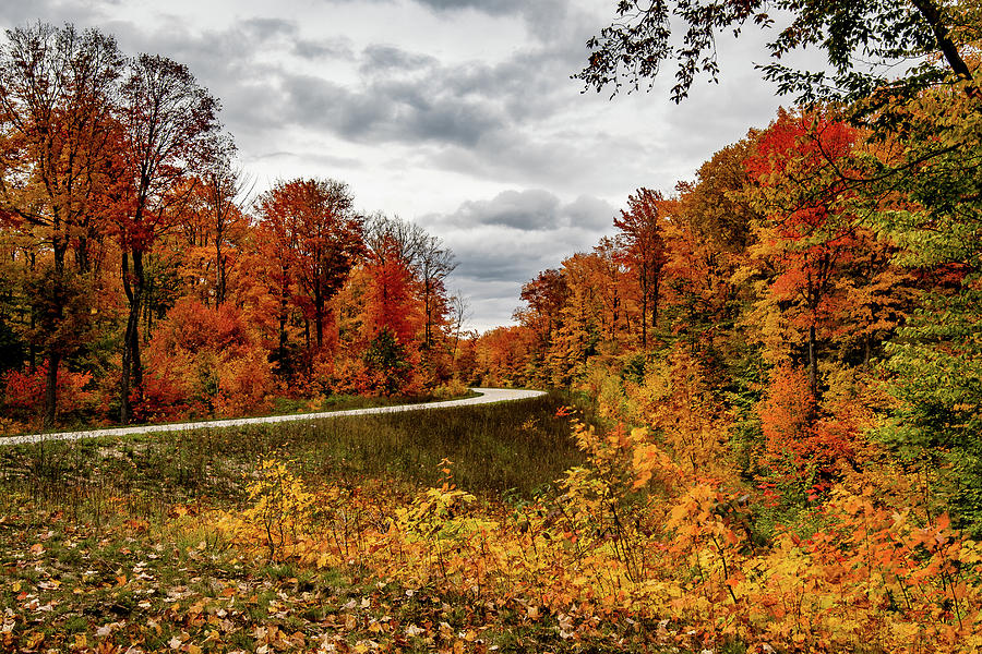 Autumn in the UP - Highway 58 by William Christiansen