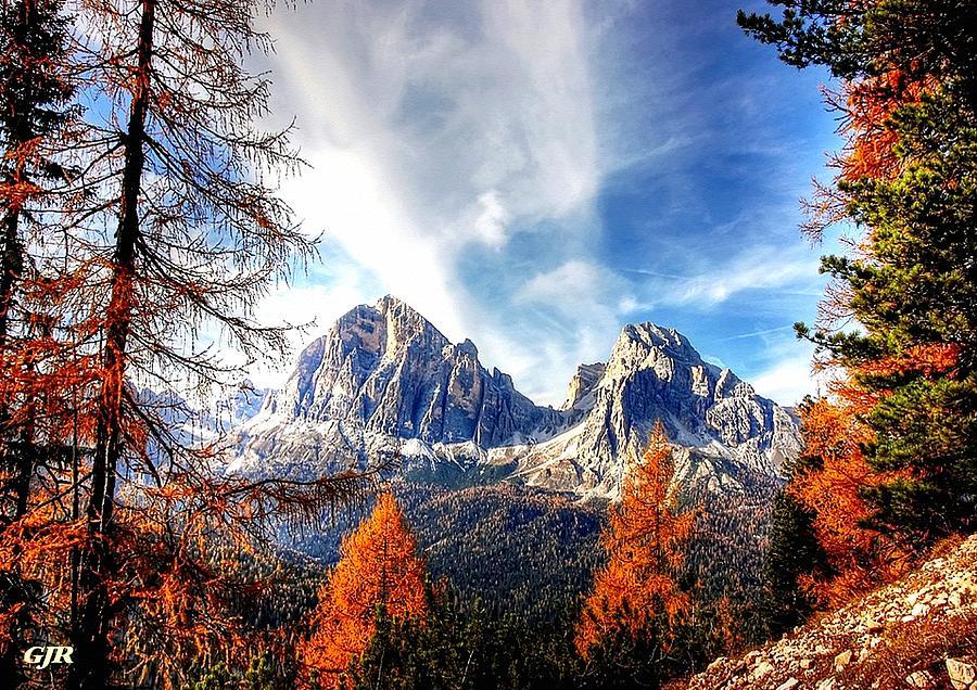 Autumn Landscape Scene In The Dolomites L A S Digital Art