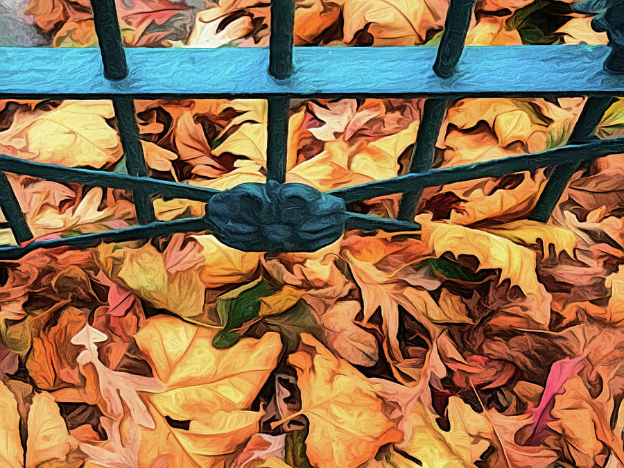 Autumn Leaves At The Gate by Gary Slawsky