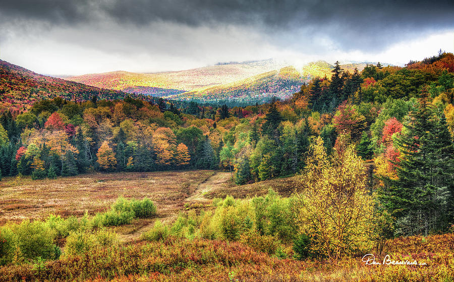 Autumn Meadow And Mountains 7337 Photograph