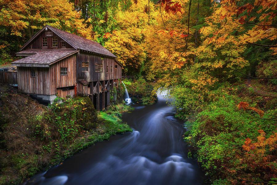 Autumn Mill Photograph