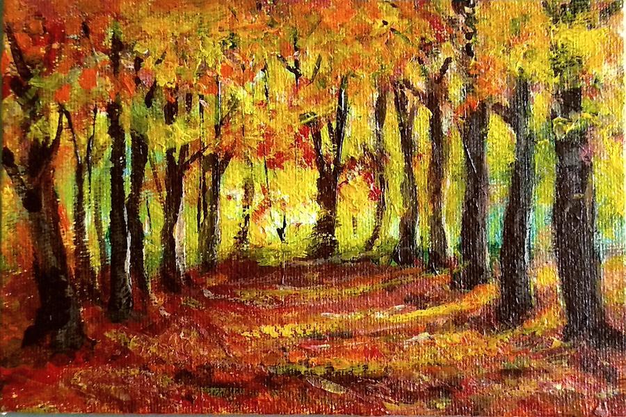 Autumn Pathway by Asha Sudhaker Shenoy