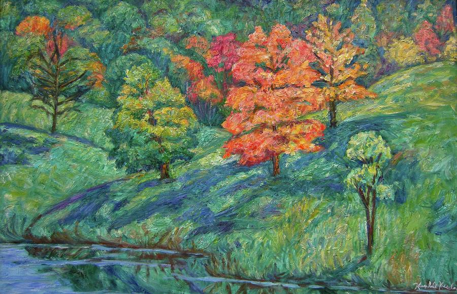 Landscape Painting - Autumn Pond by Kendall Kessler