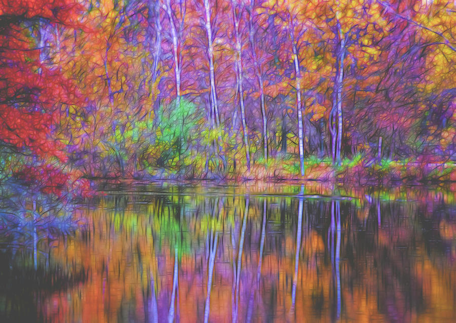 Autumn Reflection II by Tom Singleton