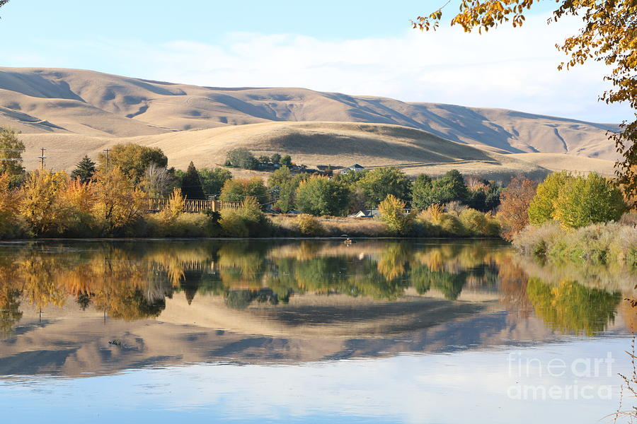 Autumn Reflection with Shadow Hills by Carol Groenen