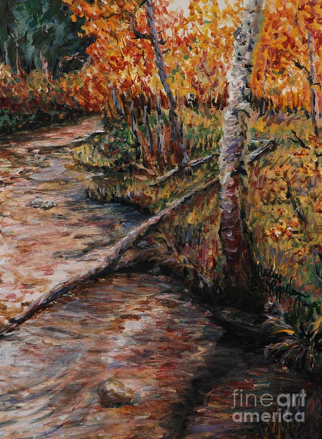 Landscape Painting - Autumn Reflections by Nadine Rippelmeyer