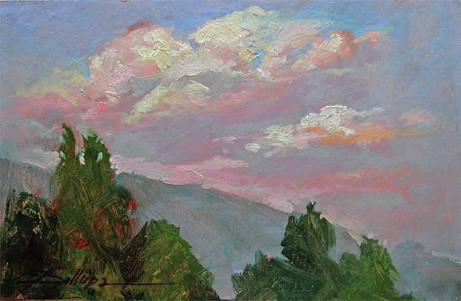 Autumn Skies Painting by Betty Jean Billups