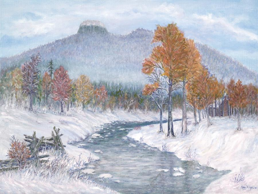 Snow Painting - Autumn Snow by Ben Kiger