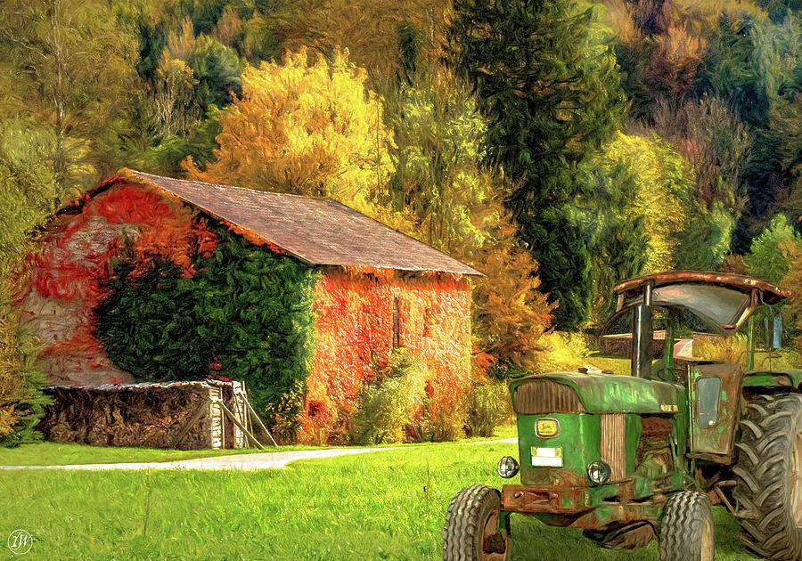 Autumn Sunrise On The Farm by Rick Wiles