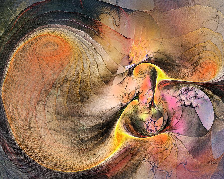 Abstract Digital Art - Autumn Tide by John Robert Beck