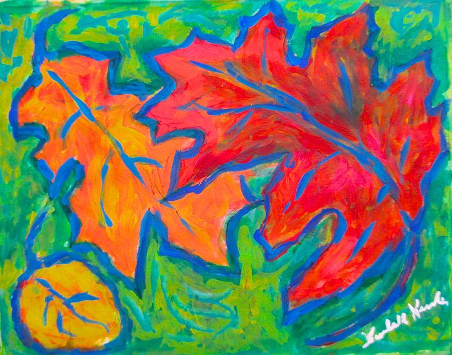 Autumn Painting - Autumn Twirl by Kendall Kessler