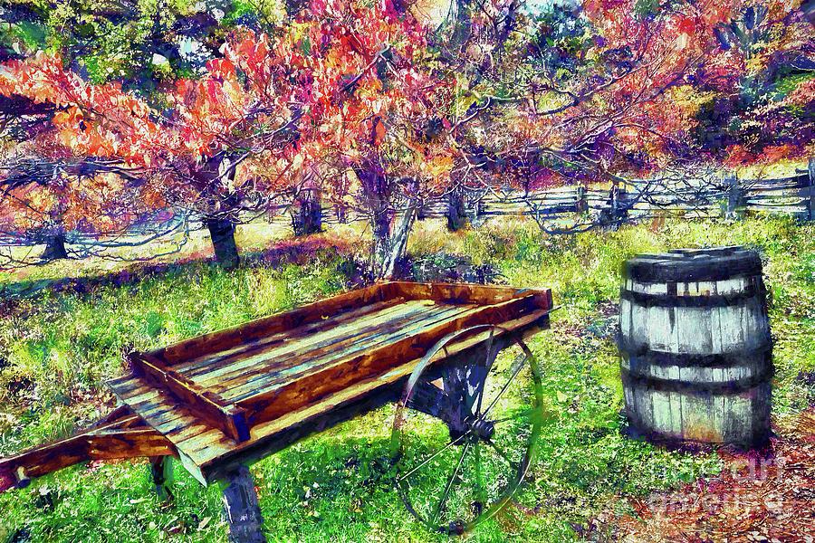 Autumn Wagon and Barrel ap by Dan Carmichael