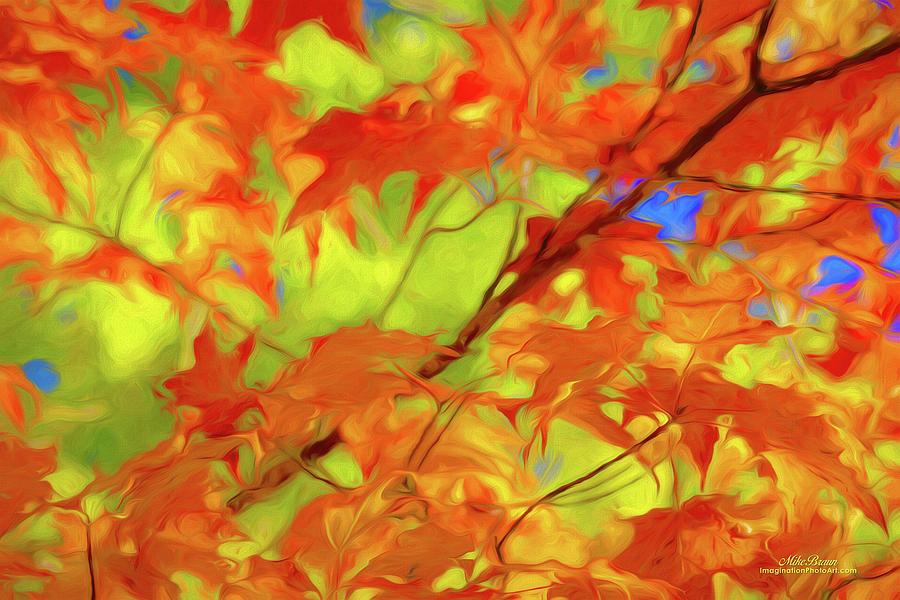 Autumn Digital Art - Autumns Last Dance by Mike Braun