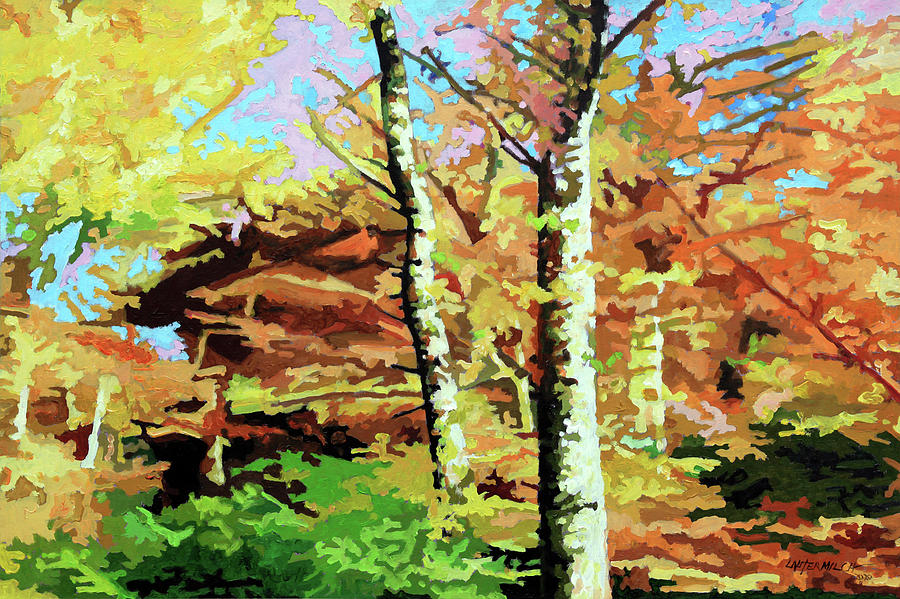 Autumn Painting - Autumns Spectacular Display by John Lautermilch