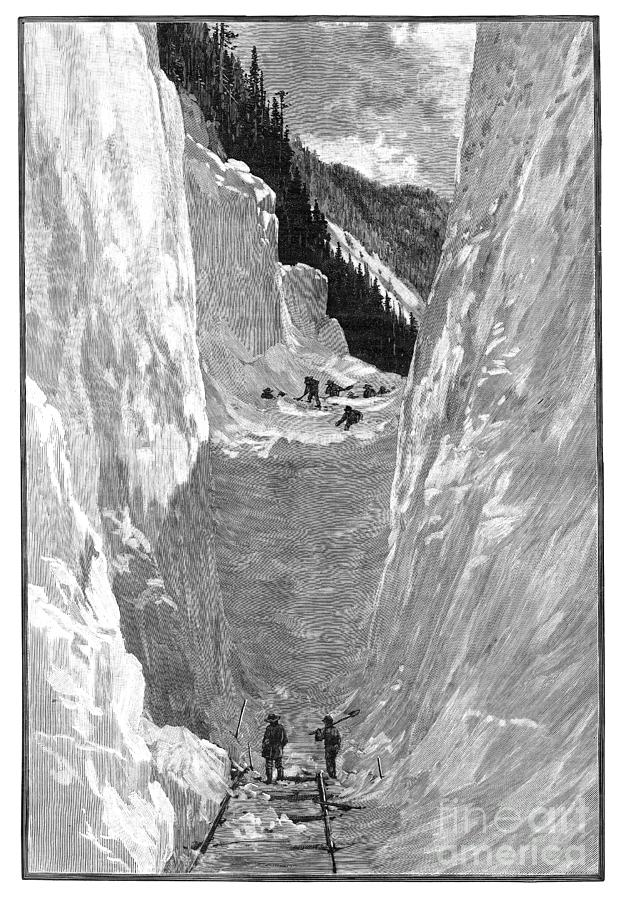 AVALANCHE, 1885 by Harpers