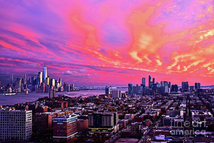 Awesome Sundown Skies NJ-NY by Regina Geoghan