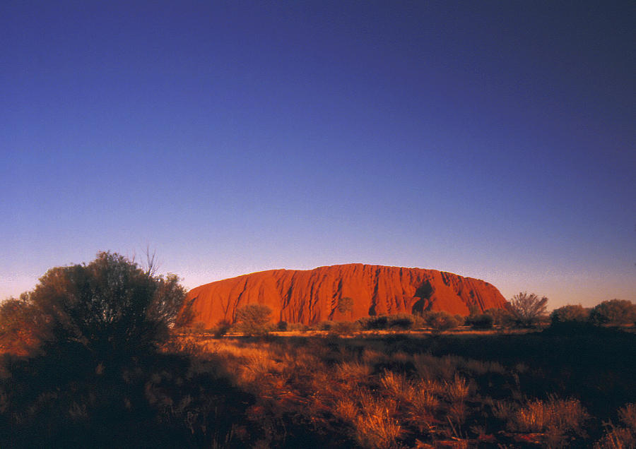 Ayers Rock Photograph - Ayers Rock at Sunset Uluru Nat. Park Northern Territory Australia by PIXELS  XPOSED Ralph A Ledergerber Photography
