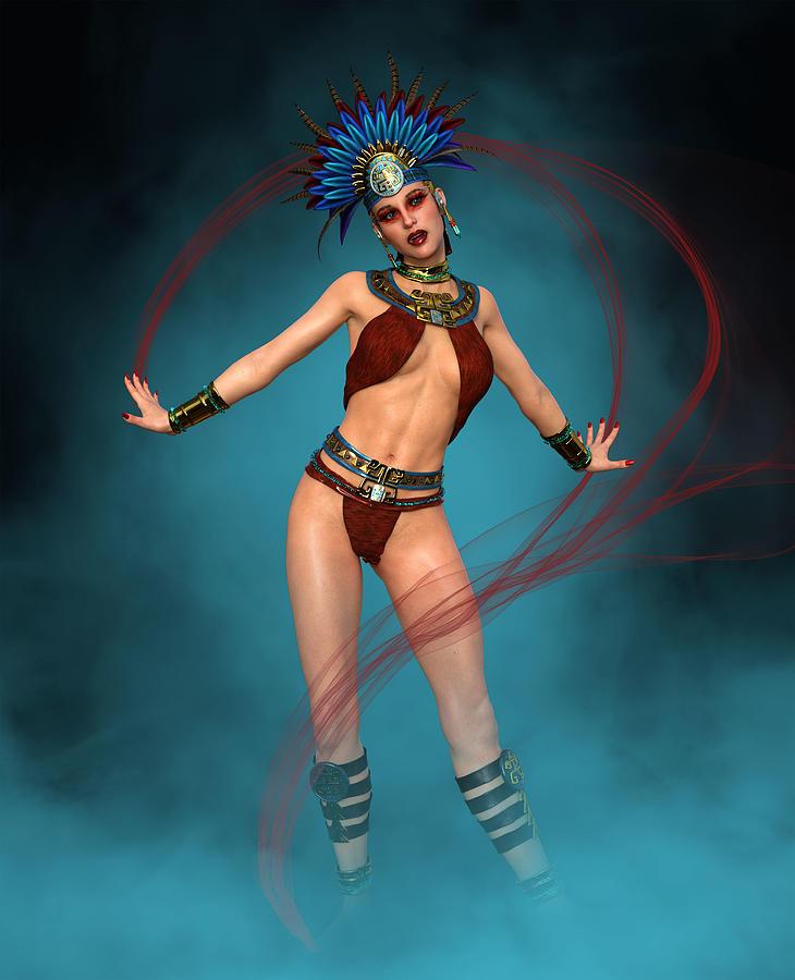 Aztec Dancer Fashion 2 Digital Art