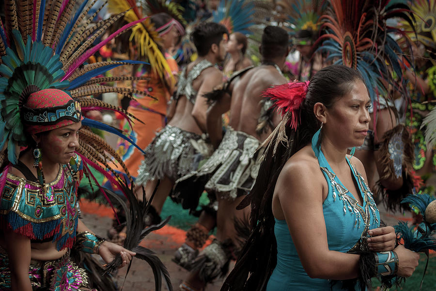 Aztec Dancers Photograph - Aztec Dancers in Chapala, Mexico by Dane Strom