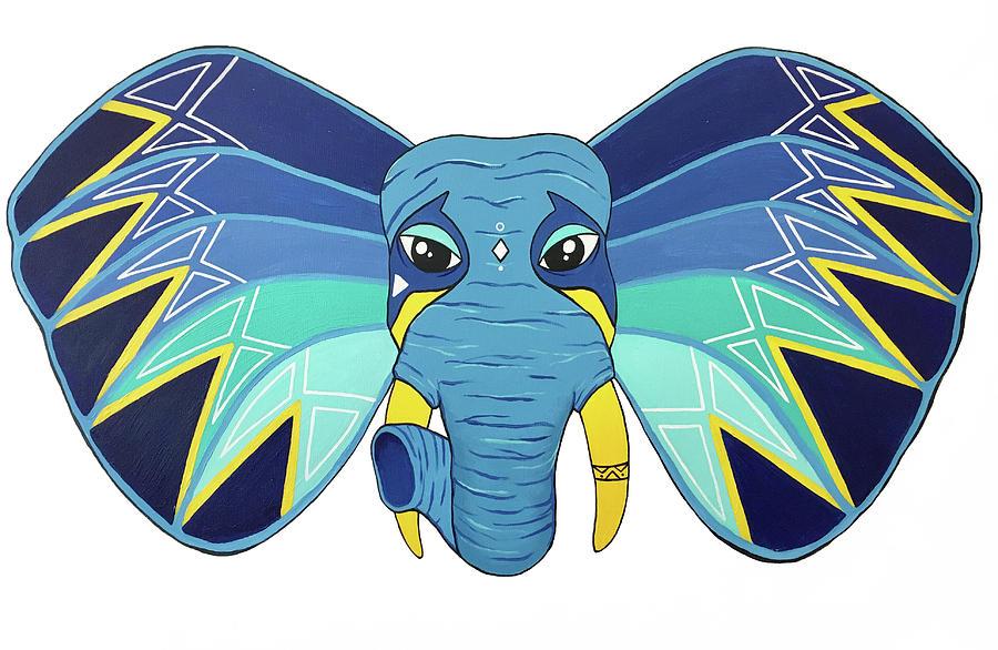 Elephant Painting - Aztec Elephant II by Allison Liffman