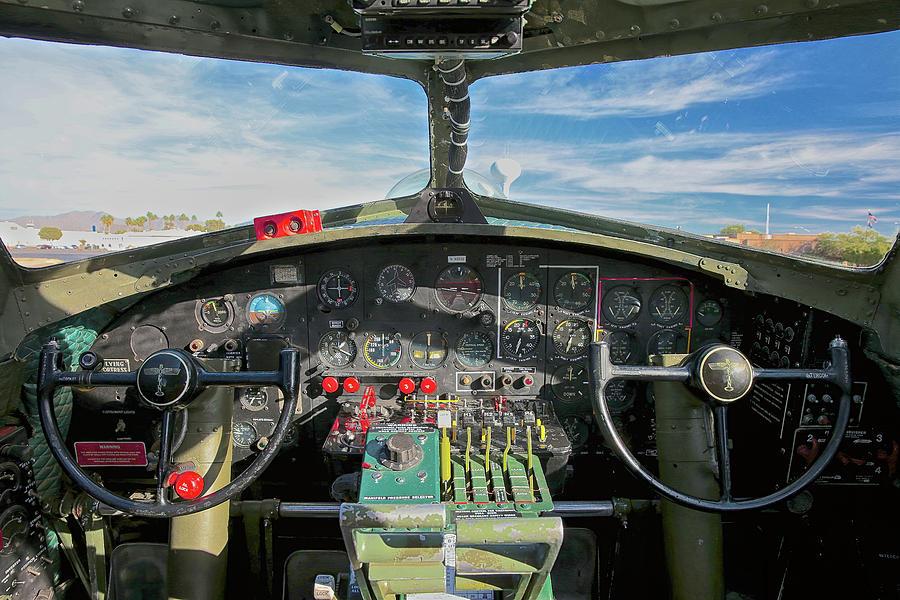 B-17 Cockpit Photograph