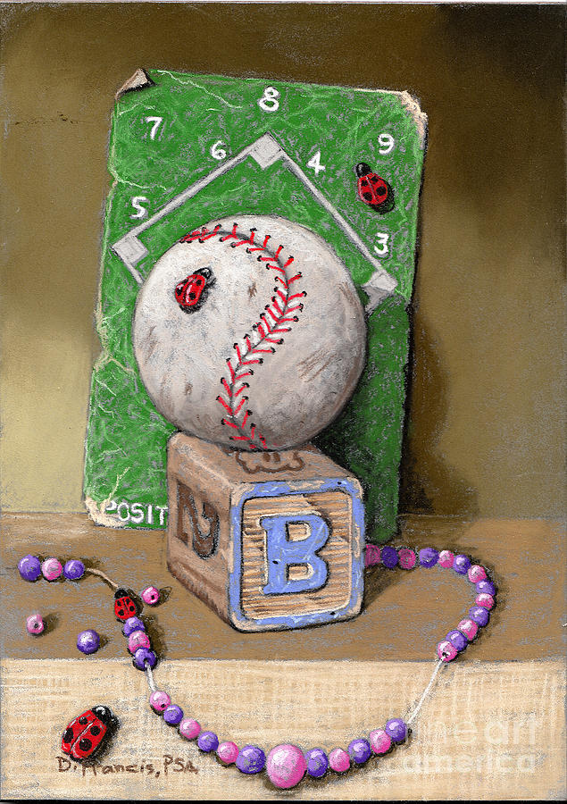 Still Life Painting - B is for Beads Bugs and a Ball for the Bases by David Francis