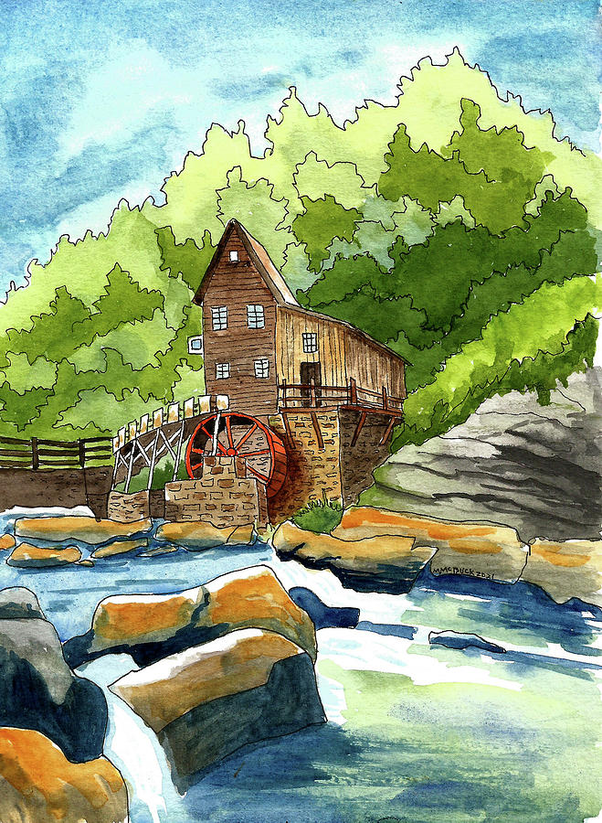 Babcock State Park, West Virginia Mixed Media
