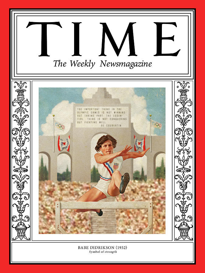 Time Photograph - Babe Didrikson, 1932 by Illustration by Patrick Faricy for TIME