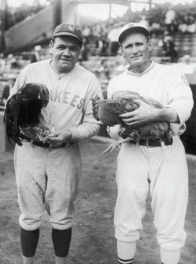 Babe Ruth and Walter Johnson Photograph by Fpg