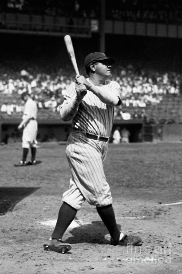 Babe Ruth Photograph by Kidwiler Collection
