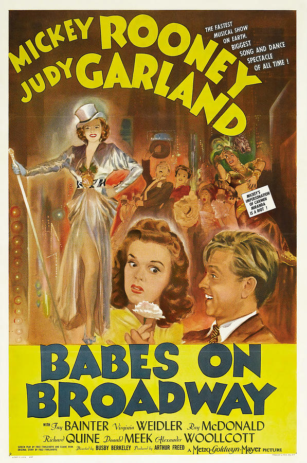 babes On Broadway, With Mickey Rooney And Judy Garland, 1942 Mixed Media