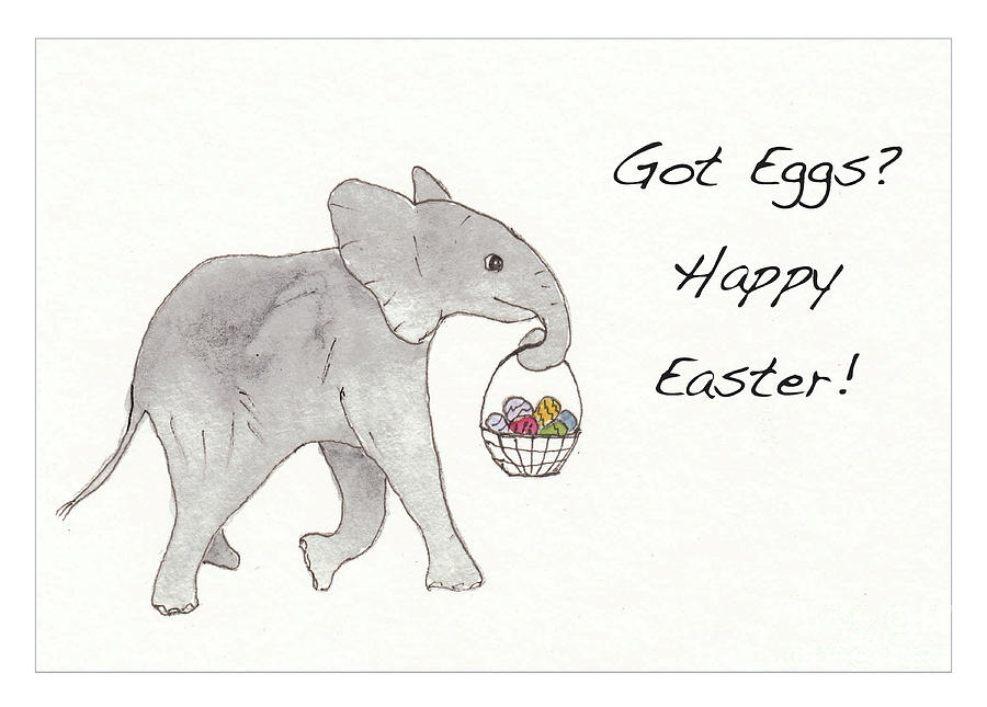 Baby Abby Happy Easter Drawing