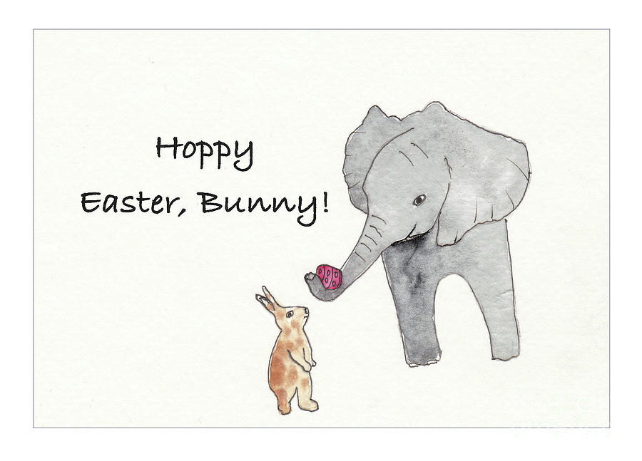 Baby Abby Says Hoppy Easter Drawing